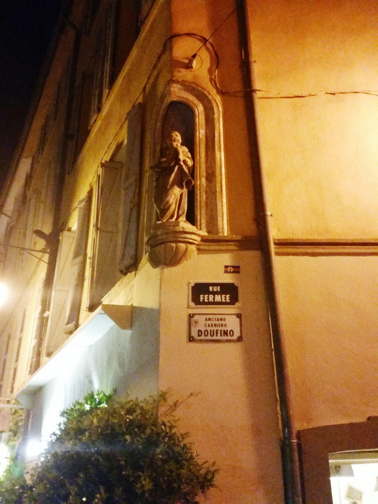 Rue Fermée Street Name Aix En Provence Provence France
