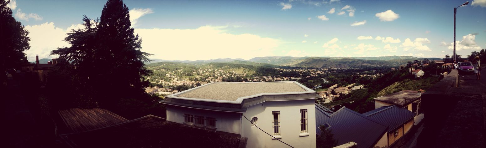 Aubenas. Montagne Montains    Paysage Sun