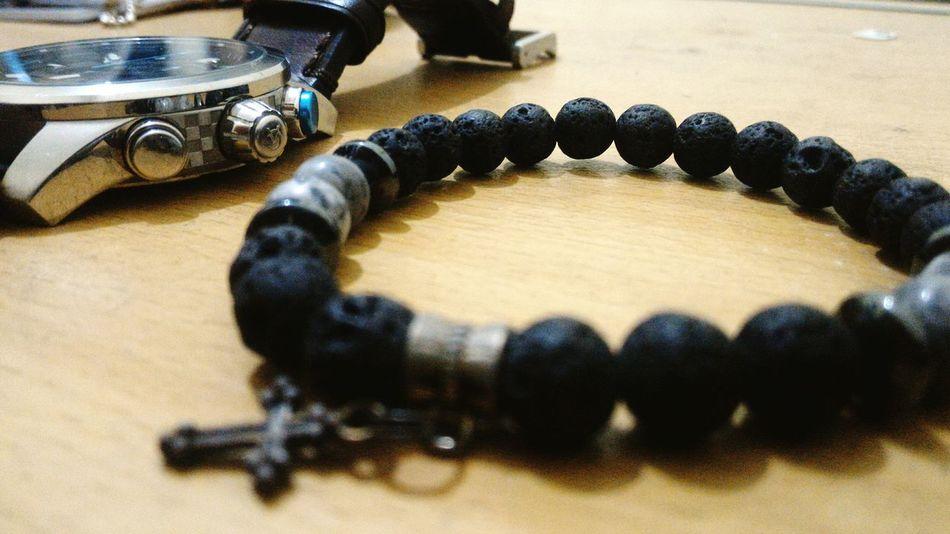 my daily companion.. Bracelets Braceletsformen Watch Style Lava Rock Cross