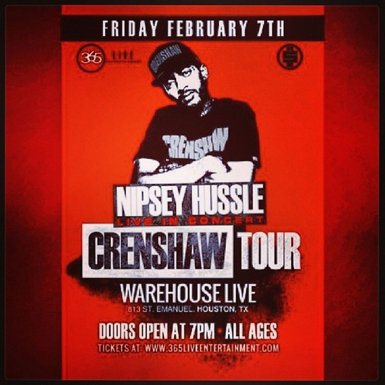 We At Warehouse Live With Nipsey Hussle Tonite Crenshaw 1of1 Blessing CheccMeOut 4InTheMorning GoLong TheWeather USeeUs NoRegrets IfYouWereMine SummertimeInTheCutlass My Top Mix WatchuKnoAboutIt For Tiqket Information Get At My Dj @djblackd281 MsUpWeOn