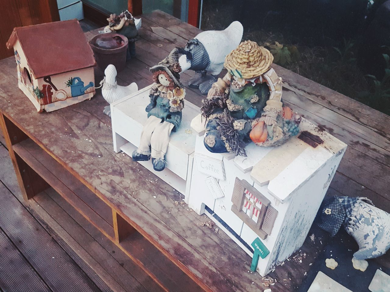 Old Toys Wooden Table Drawers Beautiful Leftovers