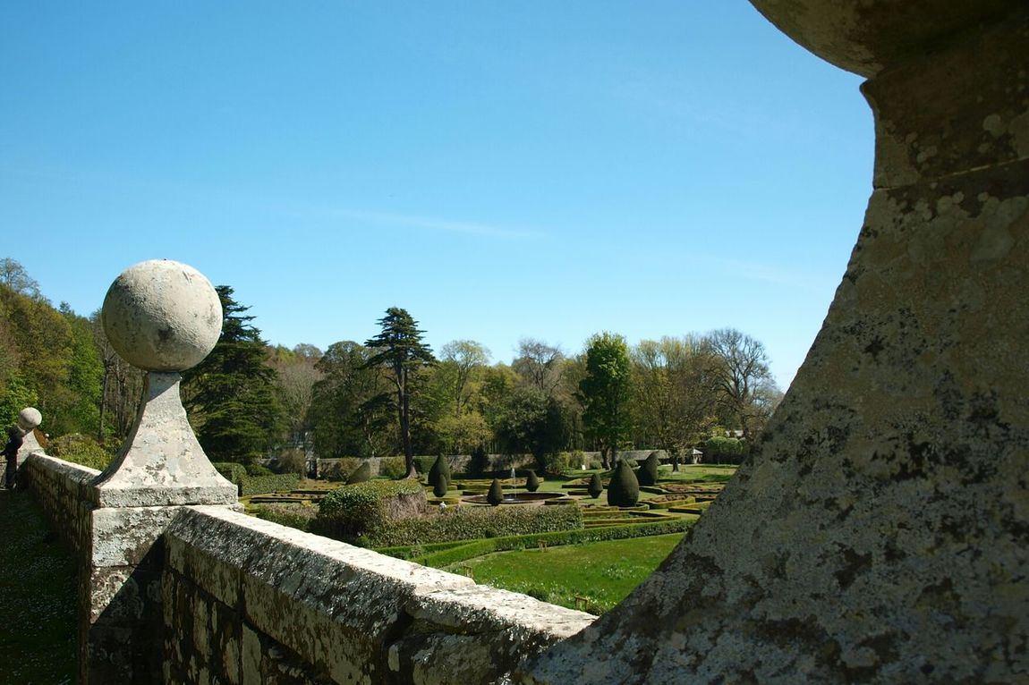 Dunrobin Castle Scotland Stone Wall Sculpture Ornament Globe No People Outdoors Nature Sky Day Formal Garden Garden Photography Garden Freshness Green Color Plant Growth Flower Scenics Trees