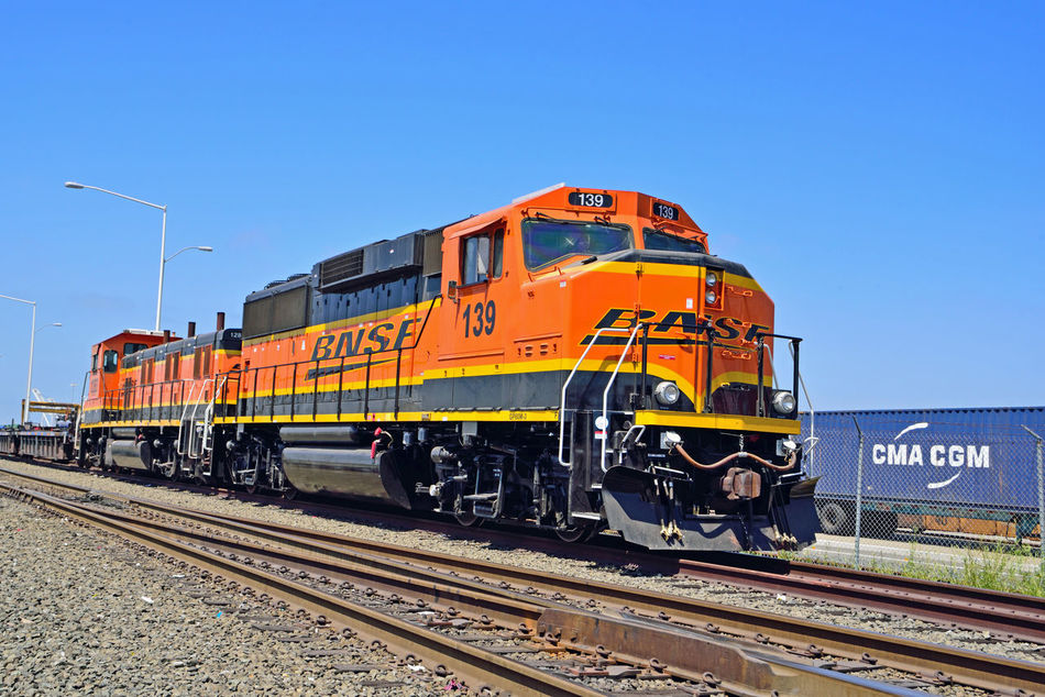 BNSF Locomotive 2 Railway Port Of Oakland, Ca. 2nd Largest Freight Railroad In North America Burlington Northern & Santa Fe Railway Merged 1996 To Form BNSF Railway Railroad History Dates To 1849 Headquarters Ft.Worth Tx. Length Of Network: 32,500 Miles 28 States 3 Canadian Provinces 44,000 Employees 8,ooo Locomotives 1,600 Trains Per Day 40 Ports Owner : Berkshire Hathaway Inc. Transports Agricultural,consumer,industrial Products And Coal Locomotive Paint Scheme : Heritage III Railroad _collection Railroad Photography Train_lovers Locomotive Engine TracksMiddle Harbor