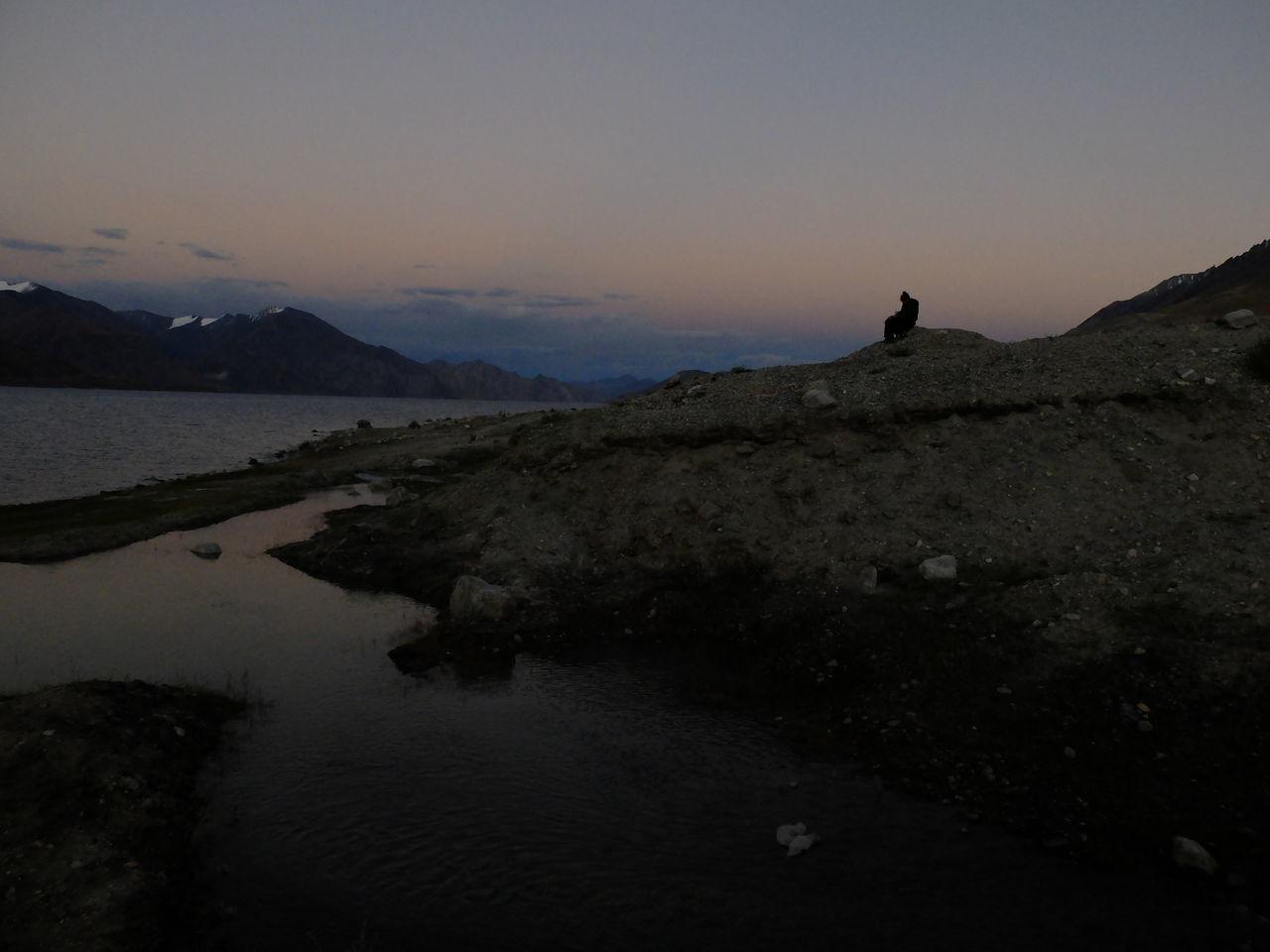 Beauty In Nature Day Jammu And Kashmir Landscape Leh Ladakh Mountain Nature No People Outdoors Pangong Lake Pangong Tso Scenics Sky Sunset Tranquil Scene Tranquility Water