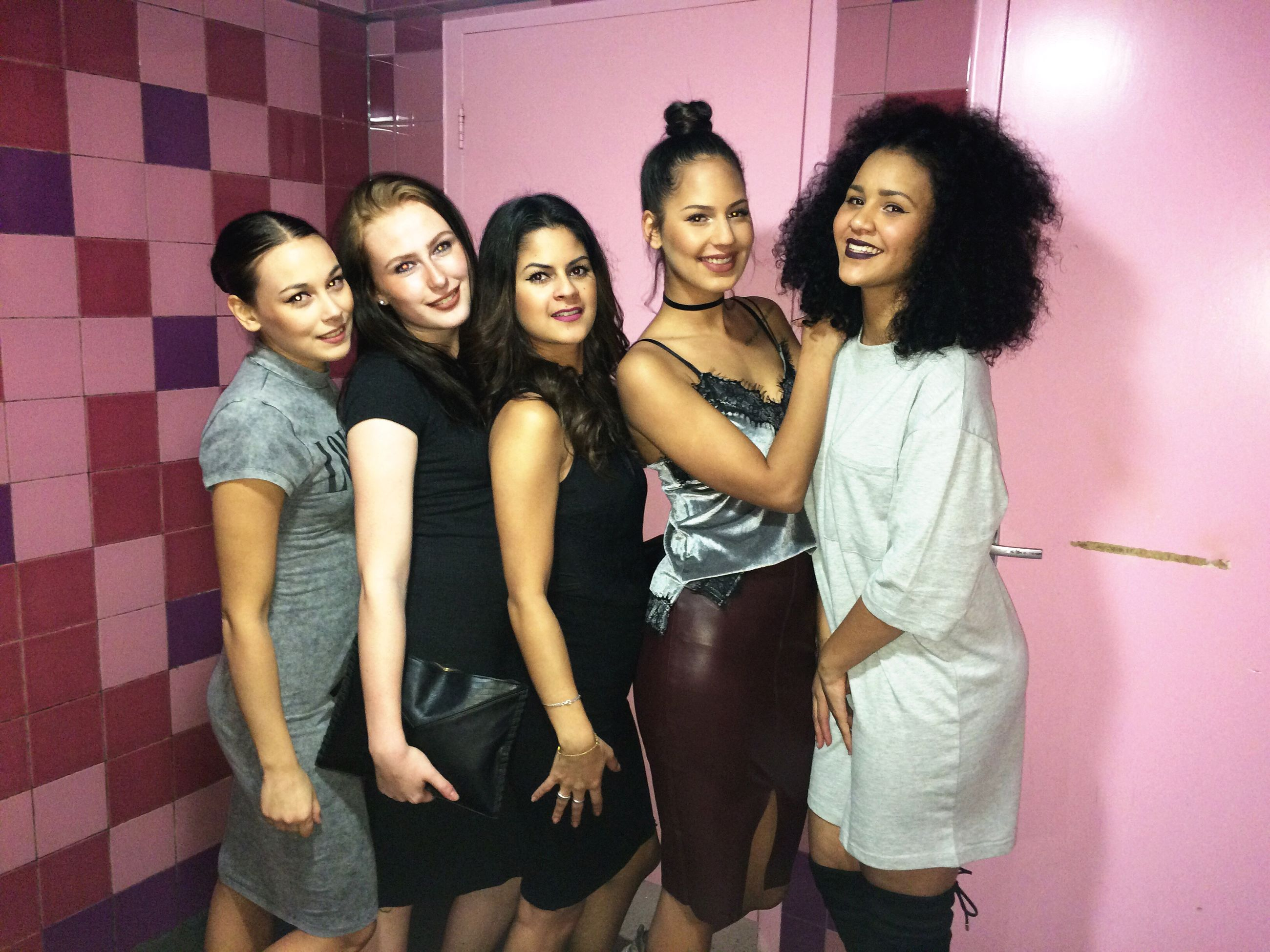 friendship, party - social event, togetherness, fun, young adult, enjoyment, portrait, night, happiness, dancing, people, nightlife, carefree, cheerful, adults only, leisure activity, young women, smiling, nightclub, indoors, adult