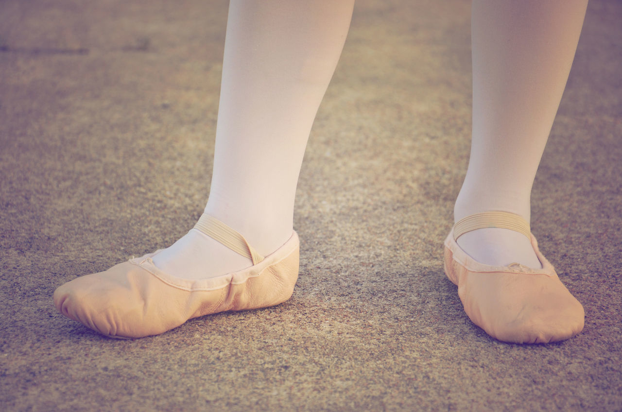 Ballet Dancer Ballet Shoes Child Close-up Footwear Low Section Person Personal Perspective