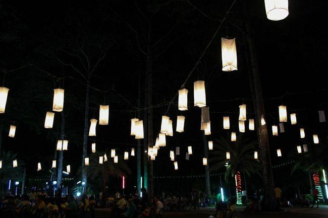 วันสุข Long Holiday Hello World Light And Shadow Night Lights Black Lamp