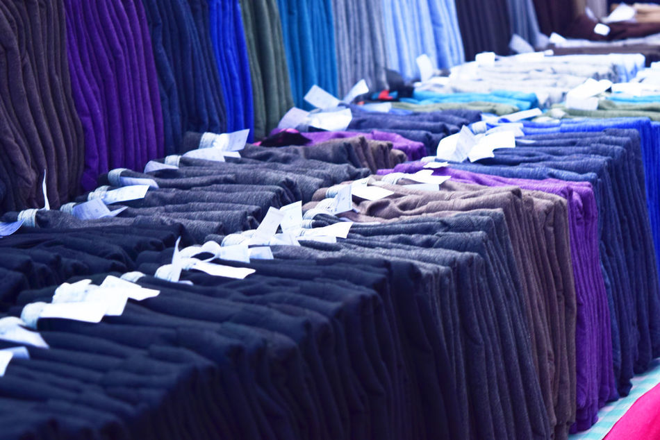 Abundance Arrangement Boutique Business Choice Clothing Clothing Store Coathanger Collection Cotton Fashion For Sale Hanging Heap Indoors  Large Group Of Objects No People Retail  Small Business Stack Store Textile Textile Industry Variation Wool
