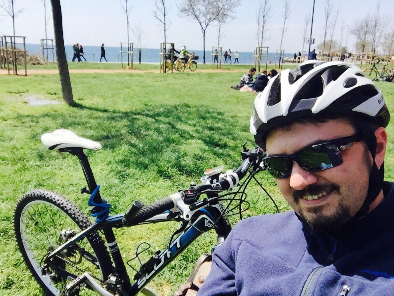 Season Opened Bike MTB Goodbye Winter, Welcome Spring