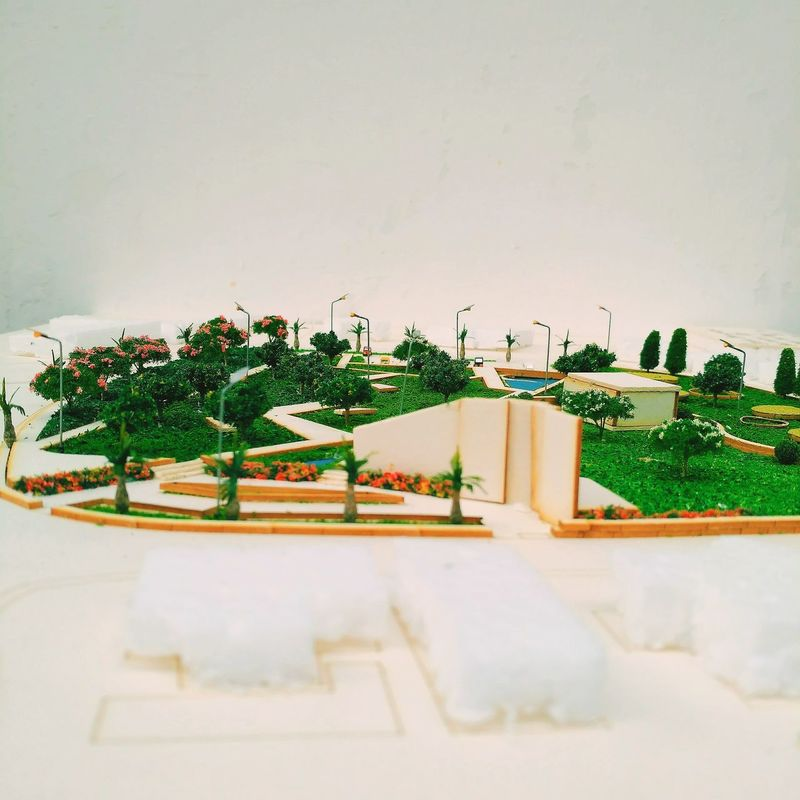 Architecture Scale Model Open Space Outdoors Landscapes Urban Space Grass Trees Pedestrian