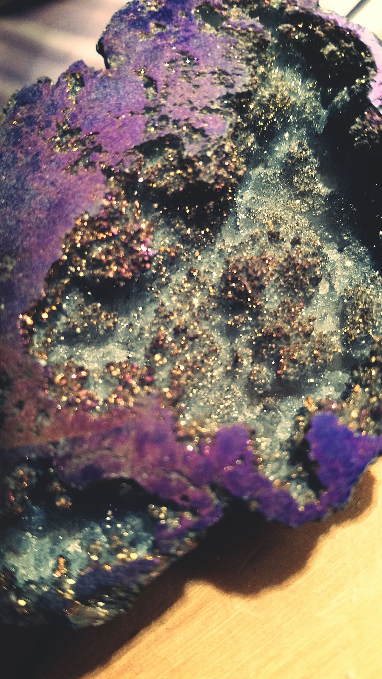 Semi Precious Stones Volcanic  looks Glistening Welcome Awaites Purple and Gold Sparkles Macro_collection Strange Weird Beauty Macro Beauty