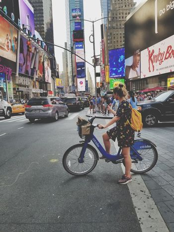 Bicycle Transportation City Life City Real People City Street Times Square The Week On EyeEm New York City An Eye For Travel