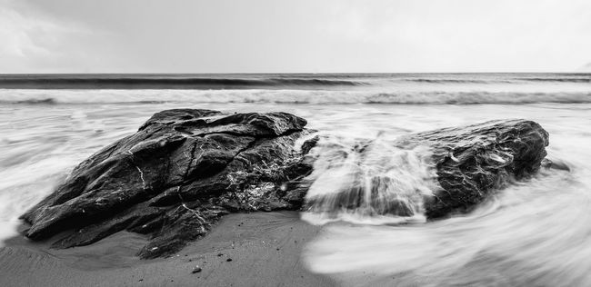 Moon Rock 2 Beach Beauty In Nature Black And White Blackandwhite Eye4photography  EyeEm Nature Lover Geology Horizon Over Water Landscape Landscape_Collection Landscape_photography Landscapes Nature Nature Nature_collection Ocean Sand Scenics Sea Seascape Shore Surf Tranquil Scene Tranquility Wave