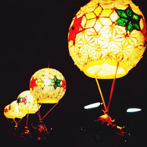 Lantern Night Dark Christmas Lantern Star Round Lanterns