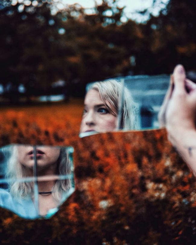 Abstract Abstract Photography Abstractart Reflection Portrait Split Portrait Glass Mirror Women Who Inspire You Close-up EyeEm Best Shots Fall Autumn Nature