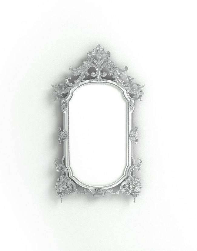 Baroque Metal Silver  Photoframe Mirror Frame Printshop Blogphotography Product Photography Stockphoto