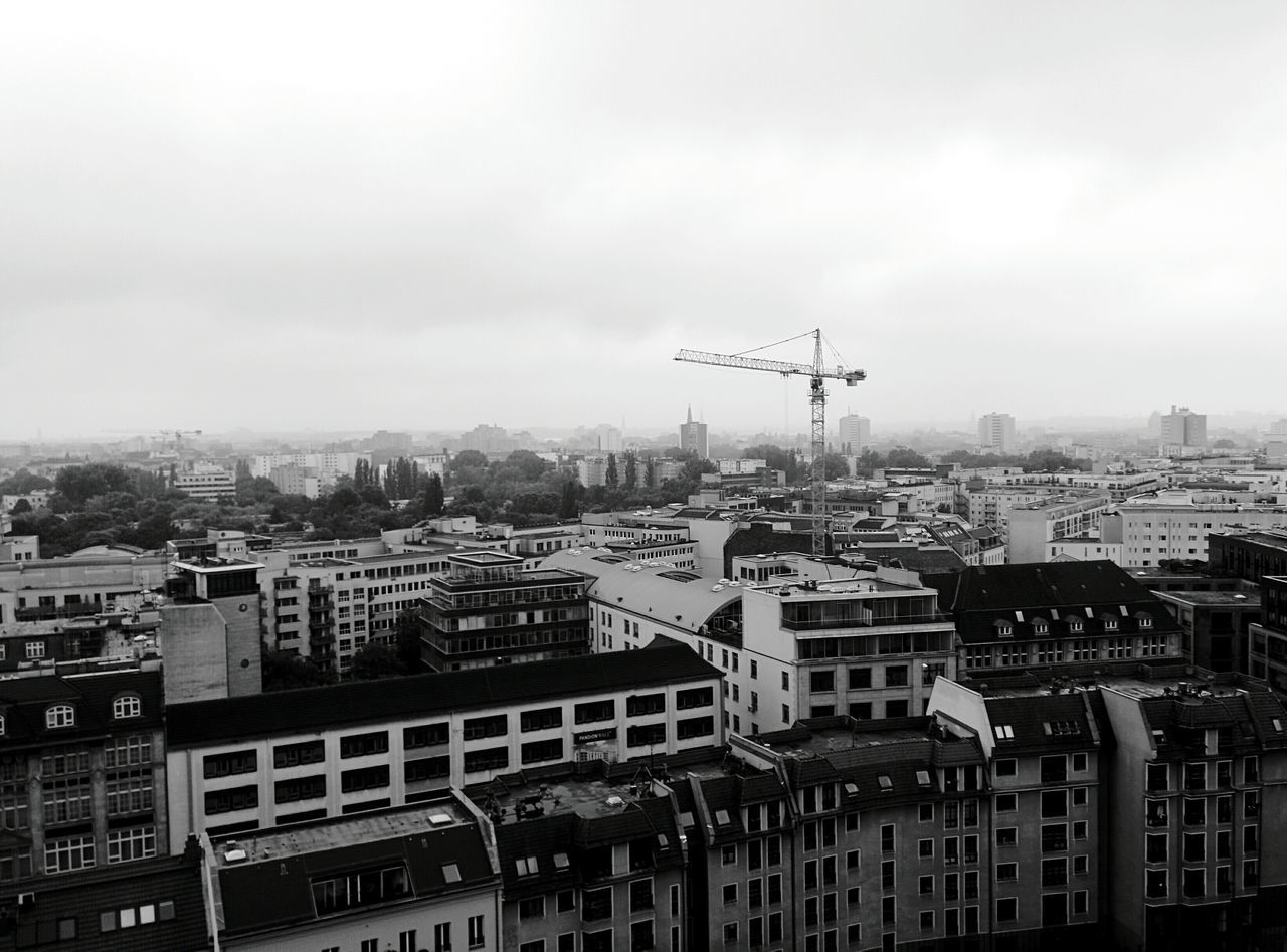 Day 338 - Berlin in the fog Berlin Blackandwhite Crane Fog Building 365project 365florianmski Day338