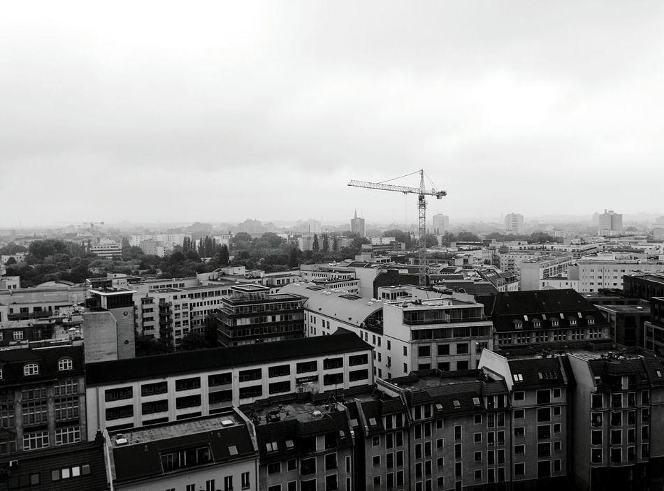Day 338 - Berlin in the fog Berlin Blackandwhite Crane Fog Building 365project 365florianmski Day338