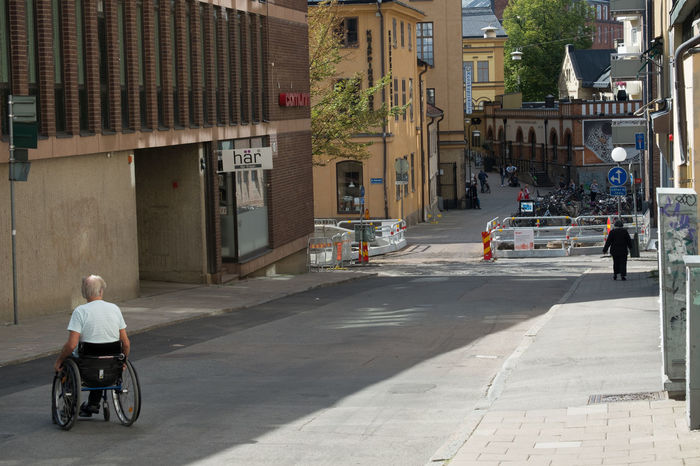 Stockholm, 2016, Nils Nowacki Adventure City City Life Disabled Rolling Shadow Shadows & Lights Sweden Wheelchair