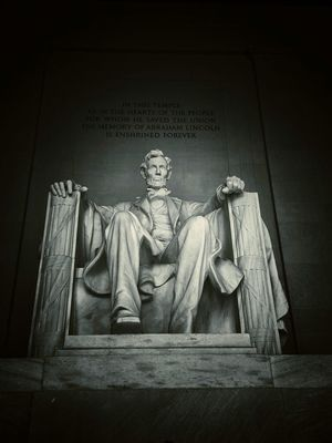 Sightseeing at Lincoln Memorial by Giancarlo Mino'