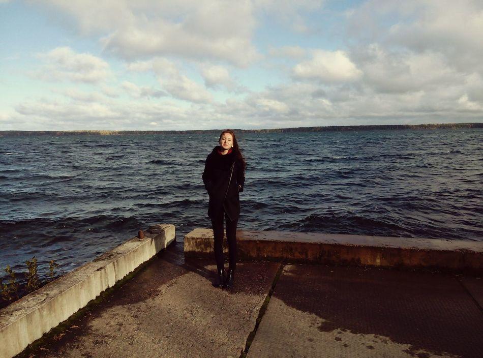 осень🍁🍂 на озере