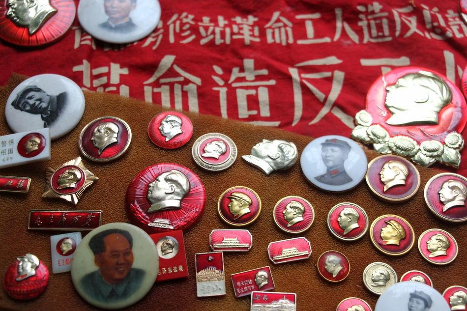 Badge Beautifully Organized Celebration Historical Historical Sights Large Group Of Objects Mao Old-fashioned Red Symbol Symbolic  Oriental Design Style Of China Lieblingsteil EyeEm Diversity