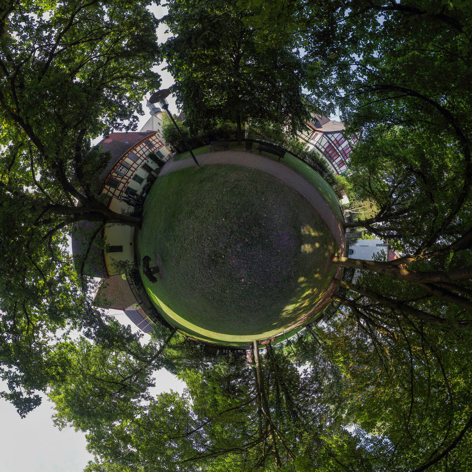 Architecture Circle City Day Grass Growth Historical Historical Building Leaves Nature No People Outdoors Panorama Park Paths Rockenhausen Schlosspark Schlosspark Rockenhausen Sky Spherical Panorama Sunlight And Shadow Town Tree Trees