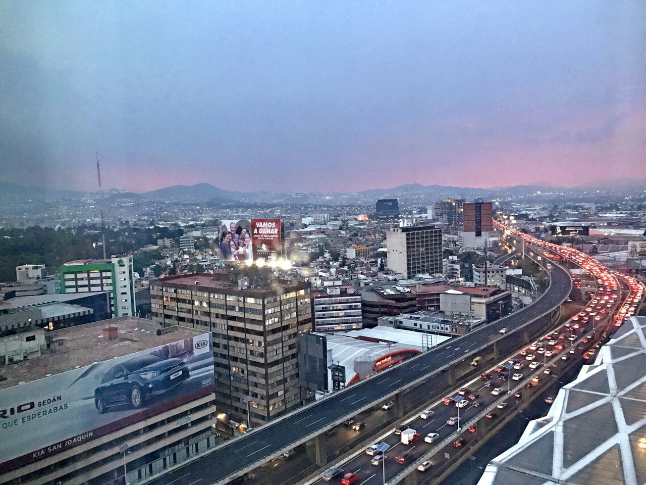 Mexico City Sunset Cityscape High Angle View IPhoneography