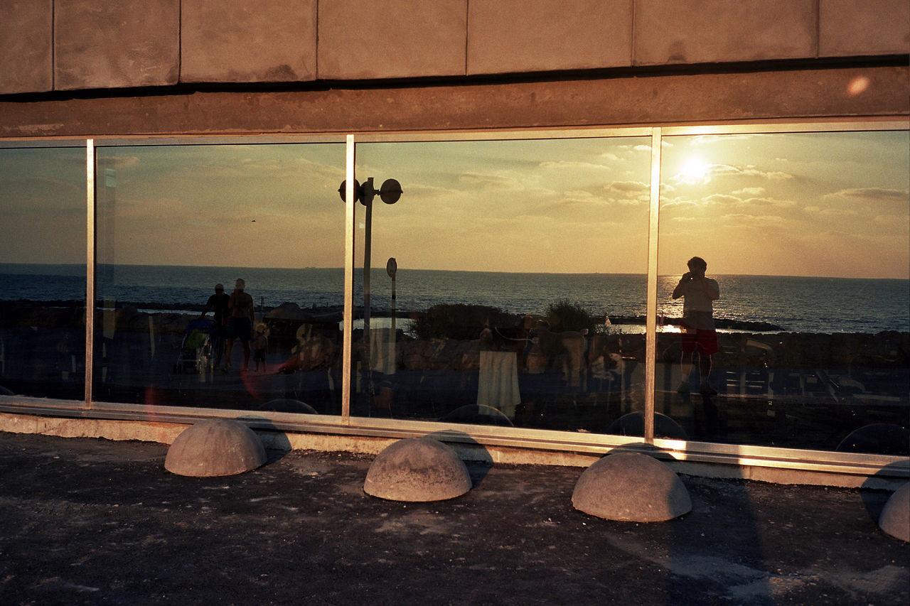 Self-Portrait in Tel Aviv Hilton Window Hilton Tel Aviv Mirror One Person Outdoors Reflection Sea Tel Aviv Hilton