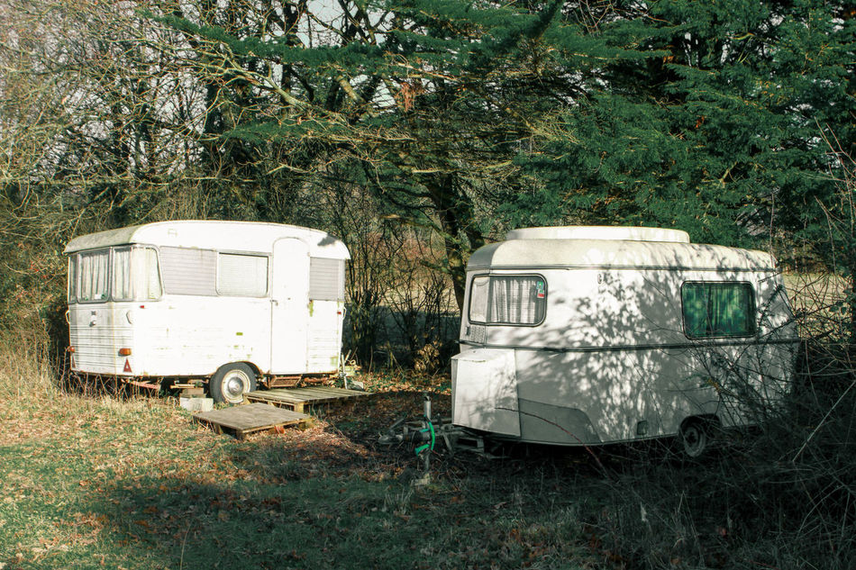 We all need a try living with the less as possible. Day Design Discover Your City Exploring Good Times Grass Hidden Places Land Vehicle Lifestyles Mode Of Transport Motor Home New Places No People Old-fashioned Outdoors Shadows & Lights Shapes Transportation Tree Vintage Wandering