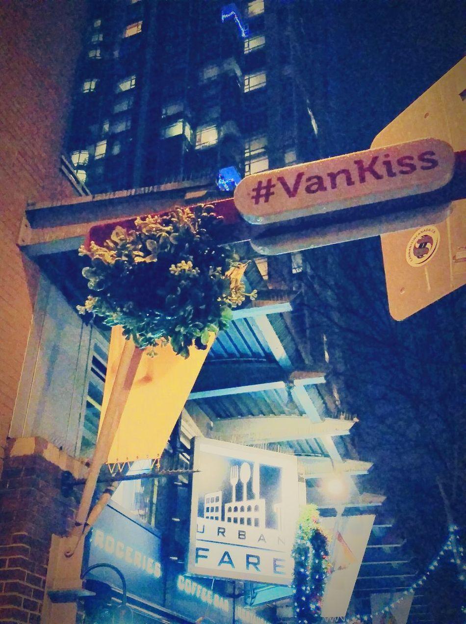 Christmas Around The World Vancouver BC VanKiss Mistletoe City's decoration: Kiss under the mistletoe! Yaletown