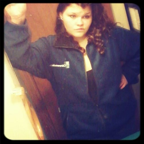 lmao @ my new work uniform. this is the fleece I can wear.