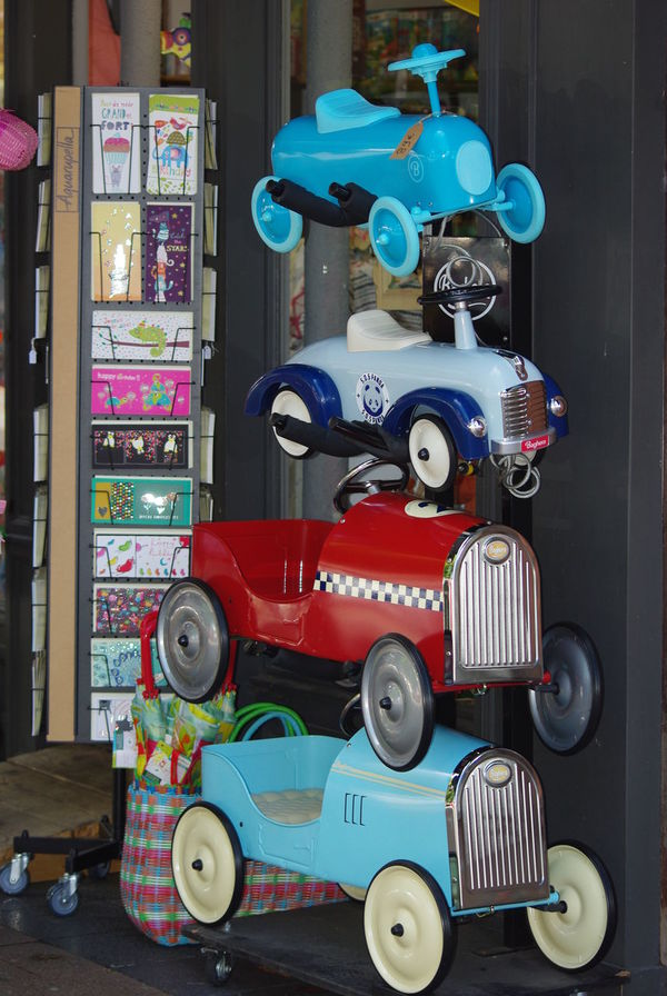 PedalCars Toyshops Window Shopping... Close-up Day Lovely Present Multi Colored No People Variation