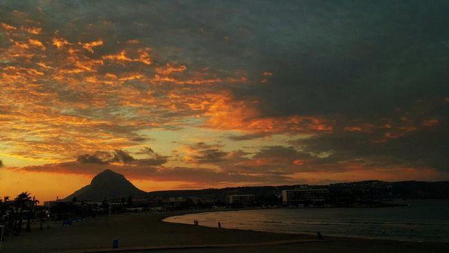 Moraira Mont Go SPAIN Sunset Mountain Sky Beauty In Nature Dramatic Sky Nature Romantic Sky Sea