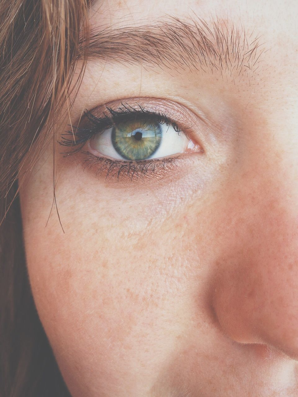 human eye, portrait, human body part, close-up, looking at camera, one person, human face, blue eyes, eyebrow, eyesight, real people, eyelash, eyeball, day, outdoors, young adult, adult, people