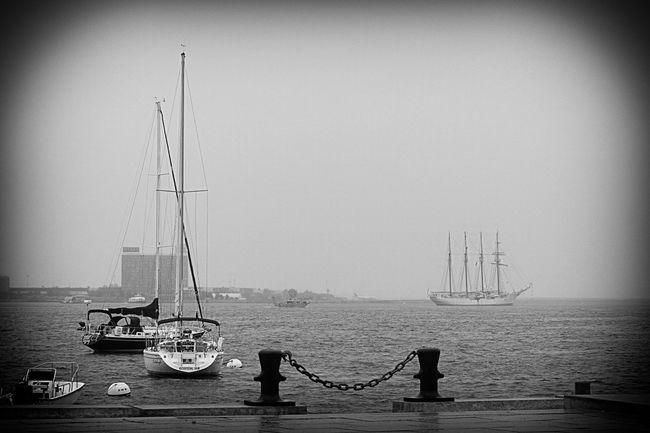 Spanish Royal Navy Tall Ship Juan Sebastian De Elcano is anchored in Boston Harbor... in the rain Eye4photography  Streamzoofamily