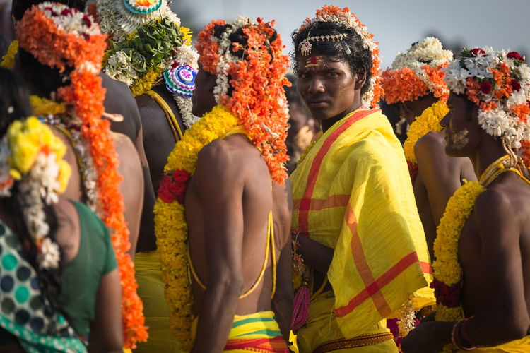 Collected Community Religious ceremony at Mahabalipuram India. Colors Travel People Photography India Incredible India People Indian Portrait Hinduism