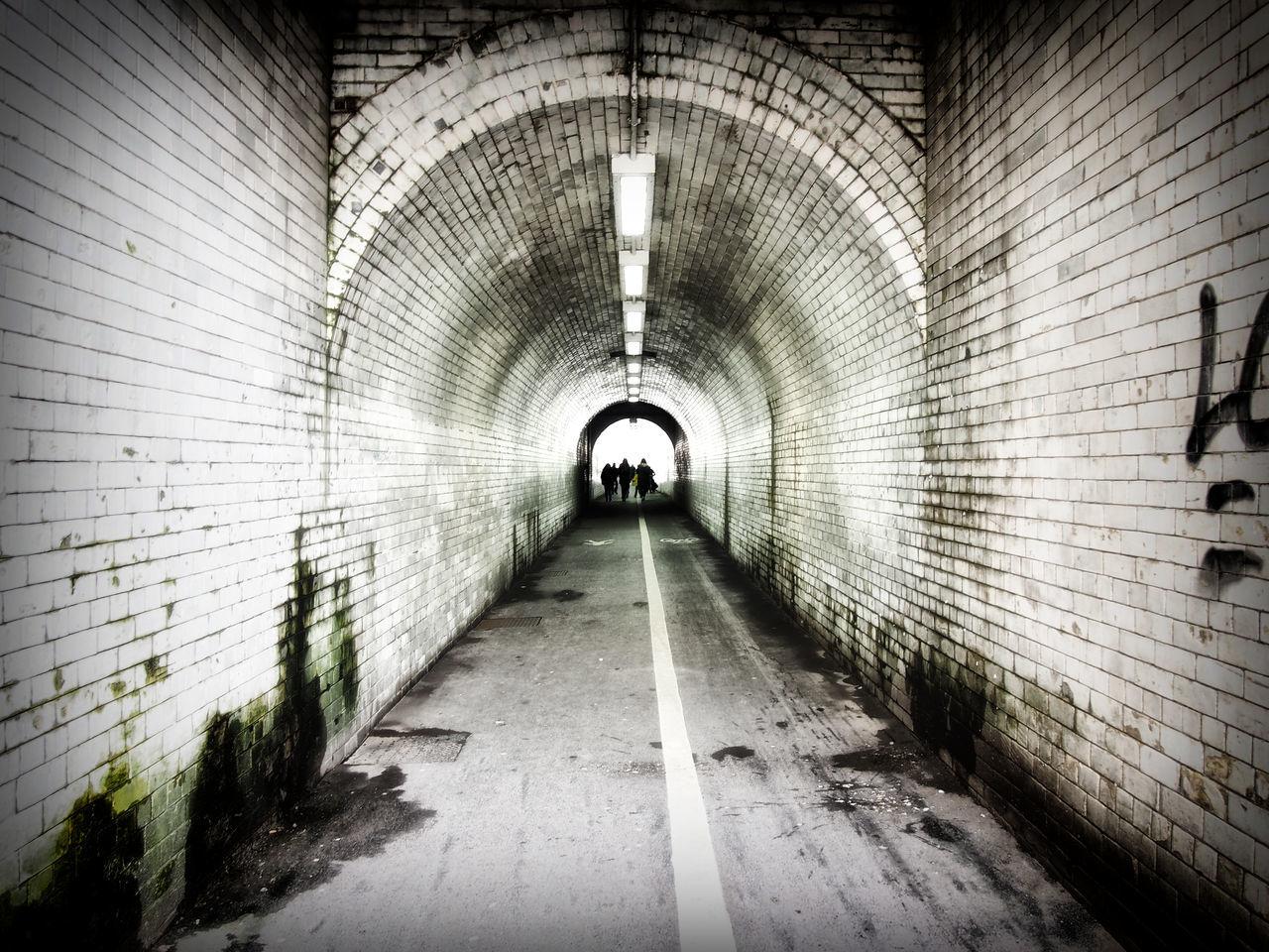 the pedestrian walkway under the railway bridge near york train station Arch Architecture Bridge Goth Gothic Railway Tiles Tunnel Underpass Vicri Walkway York Yrokshir