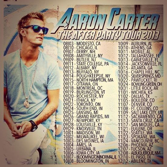 Aaron Carter tour! Cant wait!!