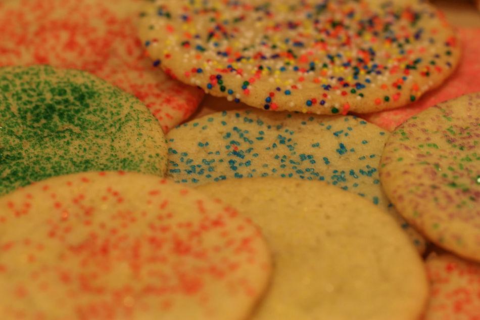 Christmas Treats Canon60d Christmas Christmas Cookies Colored Sprinkles Cookies Decorated EyeEm Gallery Macro Sugar Cookies Treats