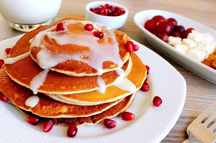 Food And Drink Food Plate Dessert Sweet Food Freshness Breakfast Pancake Fruit Ready-to-eat