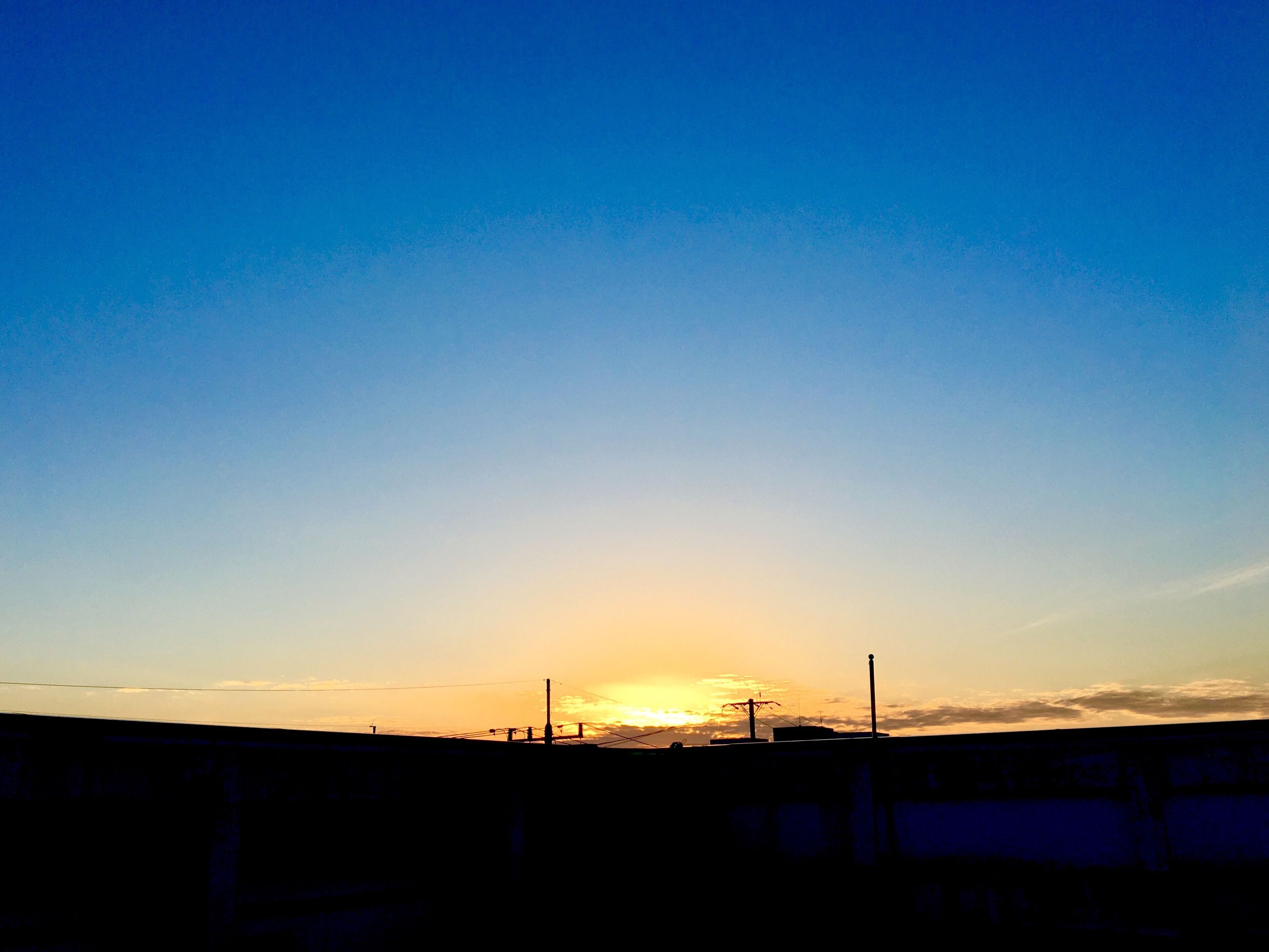 sunset, sky, built structure, clear sky, silhouette, no people, building exterior, nature, beauty in nature, outdoors, architecture, day