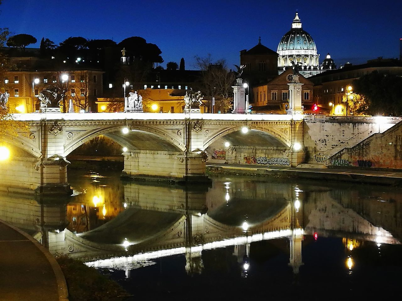 Rome Italy🇮🇹 Castel Sant'Angelo Tiber River Rome By Night The Purist (no Edit, No Filter) Huawei P9 Plus Home Town Illuminated Night Reflection Architecture City Bridge - Man Made Structure Travel Destinations Building Exterior Sky No People Water Cityscape Outdoors Traveling Home For The Holidays