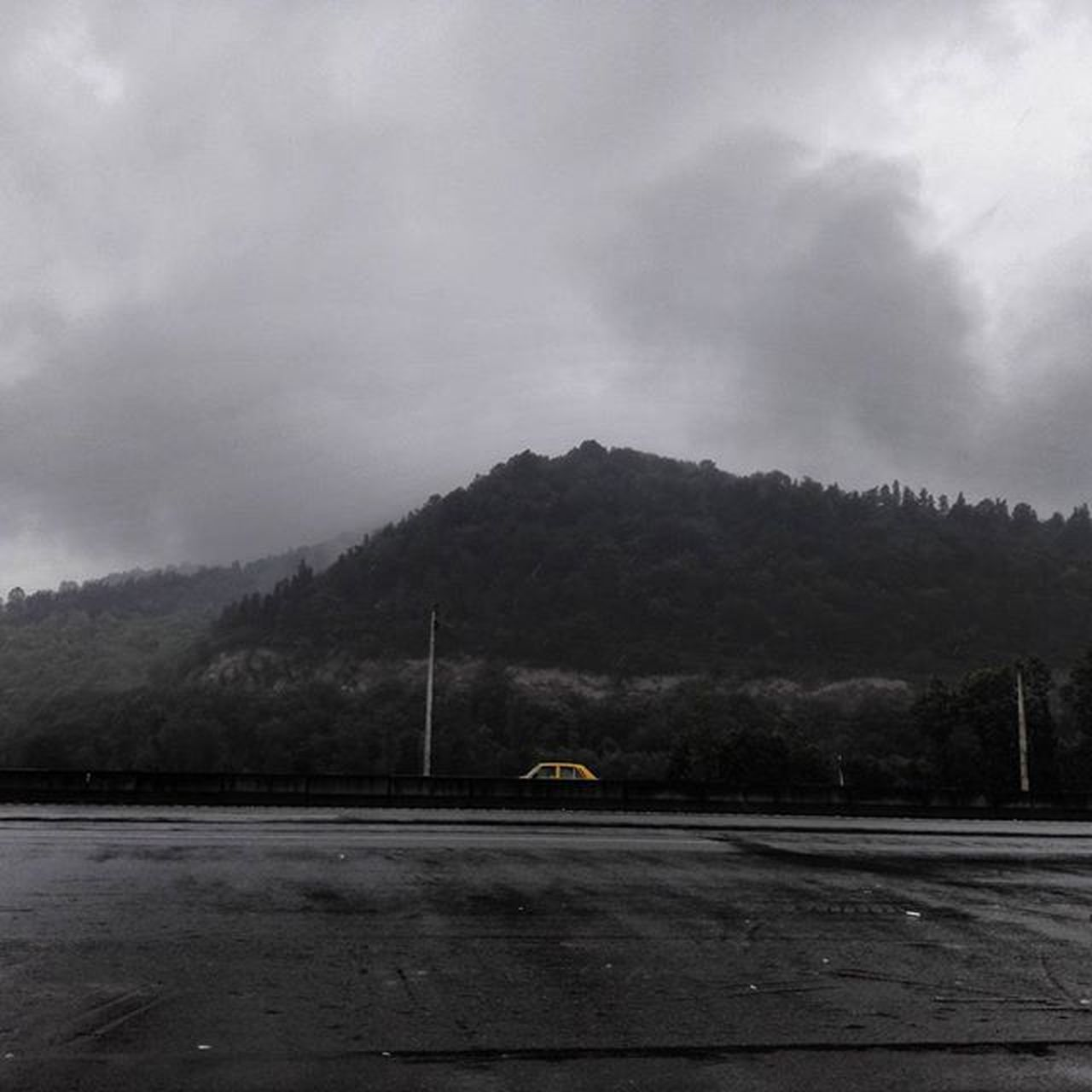 transportation, road, car, mountain, the way forward, cloud - sky, outdoors, no people, day, sky, nature, tree