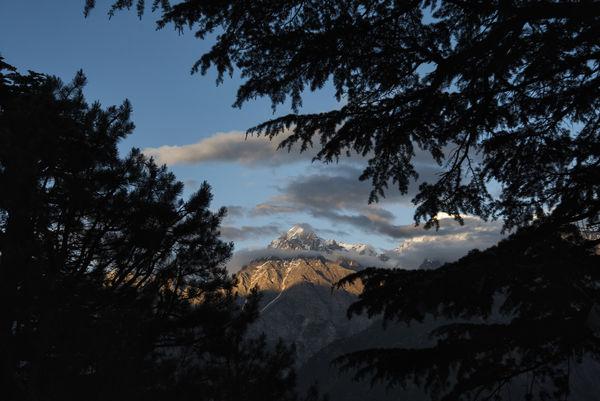 Sunset view of Mount Kinner Kailash range at Kinnaur, Himachal Pradesh. Himachal Pradesh, India Kinnaur Spiti Valley India Travel Adventure Beauty In Nature Danger Day High Kinner Kailash Landscape Low Angle View Mountain Nature No People Outdoors RISK Scenics Silhouette Sky Spiti Tree