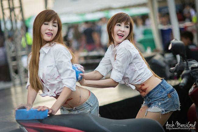 Run For Your Lifes Thailand http://www.photostory.in.th http://fb.me/ArchMerciGod Beautiful Girl Portrait RFYLasia Rfylth RFYL Sexygirl Model Pose Modelgirl Cute Yamaha