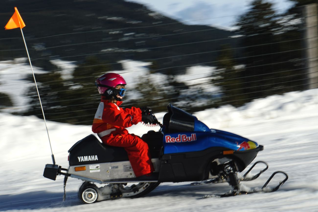Snowmobile Snow Mobile  Speed Child Young Adult Motion Helmet Sports Race Sports Track Extreme Sports Snow Winter Mountain Pyrénées-Orientales