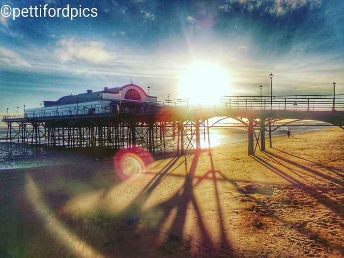 Cleethorpes pier during sun rise this morning. Pier Sky Beauty In Nature Sun Cloud - Sky Sunrise First Eyeem Photo