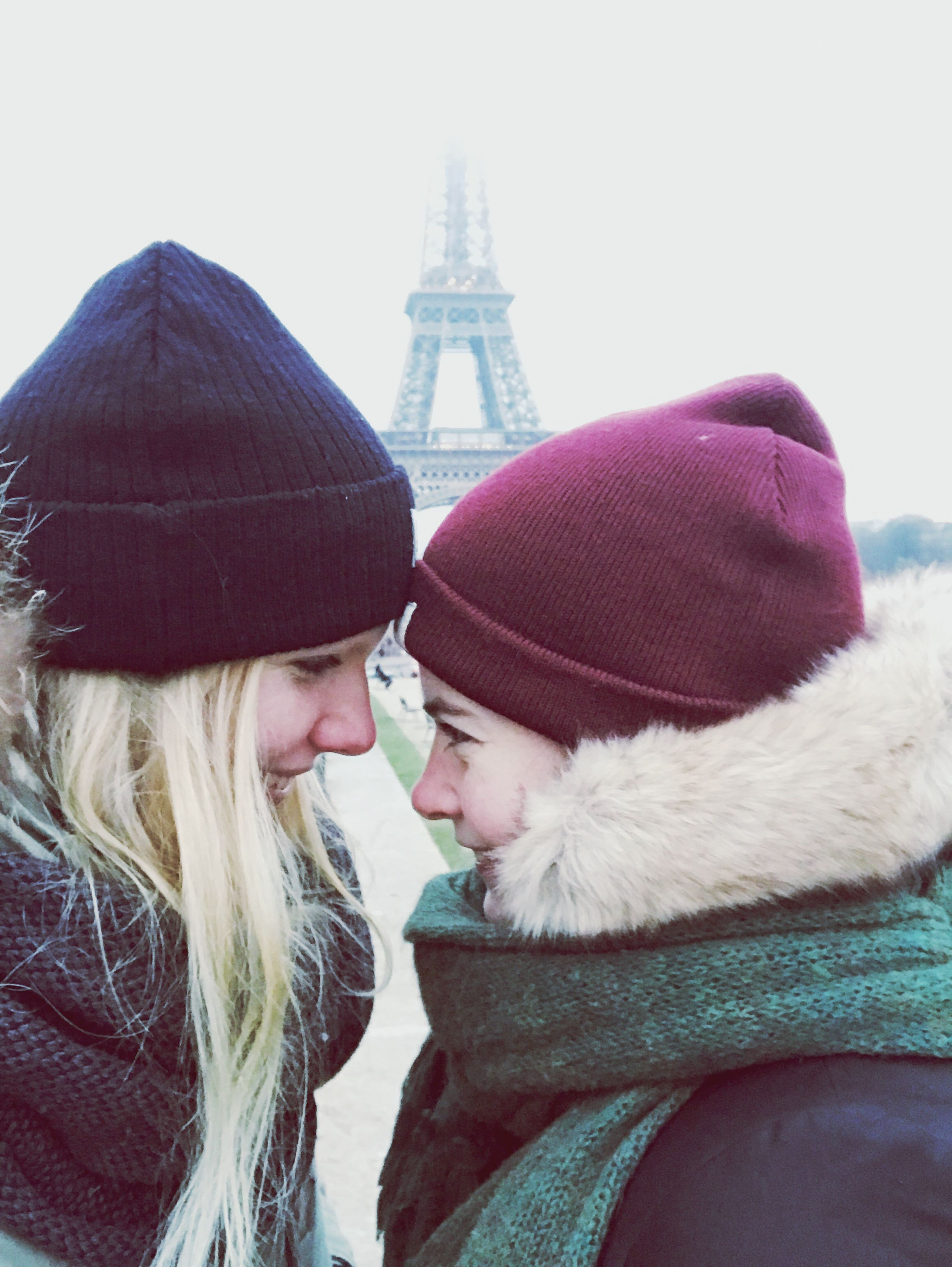 two people, love, knit hat, young adult, togetherness, warm clothing, young women, bonding, architecture, winter, vacations, men, outdoors, people, day, adults only, adult