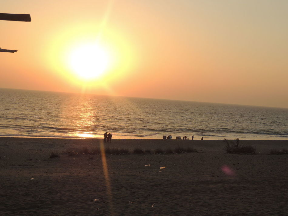 At Madhavpur Beach Beauty In Nature Day Horizon Over Water India Nature Outdoors Sea Sun Sunlight Sunset Water Without Edit ^^